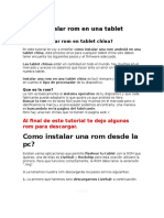 Como Instalar Rom en Una Tablet China y Quitar Patron Tablet Joinet
