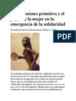 El Comunismo Primitivo y El Papel de La Mujer en La Emergencia de La Solidaridad