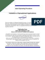 s 264 Validation Spreadsheet Applications