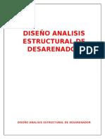 CALCULO ESTRUCTURAL DESARENADOR