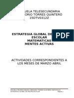 Actividades Matematicas Estrategia Global 312z