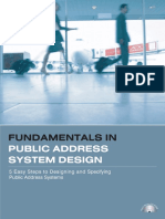 PA System Design Fundamentals (Book 1)
