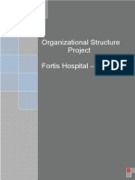 Project on Fortis Hospital