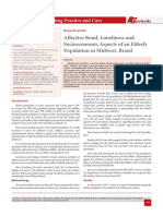 Affective Bond, Loneliness and Socioeconomic Aspects of an Elderly Population in Midwest, Brazil
