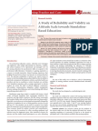 A Study of Reliability and Validity an Attitude Scale towards Simulation-Based Education