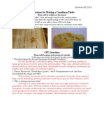 instructions for making a cuneiform tablet and cfu questions for ipg