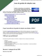 Escolher Um Software de Gestão de Relações Com Clientes (CRM)