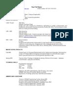 Sample US Resume