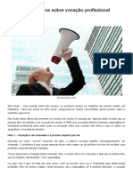 Confira Cinco Mitos Sobre Vocação Profissional _ Visão Regional - Informação de Qualidade