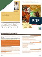 2.3 Diptico - Potencialidades Pedagogicas de Las Wikis