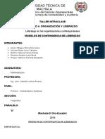 Unidad 4. Organizacion y Liderazgo.modelos de Contingencia de Liderazgo