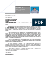 Application Letter and CV Antok