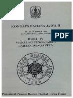 Bengkel Sastra Jawa sbg Pendukung Pengajaran Muatan Lokal