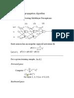 Back propagation algorithm example