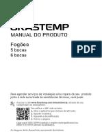 Fogões 5 e 6 Bocas 2016 Manual de Instruções