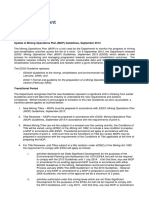Edg11 Format and Guideline for the Preparation of a Mining Operation Plan MOP Small Mine Version