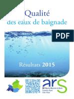 Bilan Baignades 2015 Ars Paca
