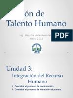 Integración del recurso Humano