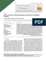 水对Ni%2FMgAlO催化丙酮加氢的影响