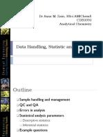 Data Handling, Statistic and Errors