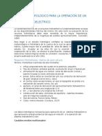 Regimen Hidrologico Para La Operación de Un Sistema Hidroelectrico