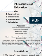 Five Philosophies of Education
