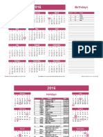 Calendar Generator