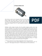 Dasar Pengendalian Putaran Motor DC