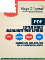 Equity Research Report 11 July 2016 Ways2Capital