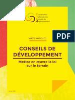 Vade-mecum Conseils de développement