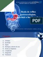 Boala de Reflux Gastroesofagian,