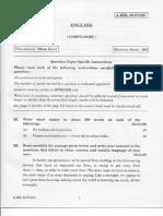 Civil Services Main 2013 English Language (Compulsory)
