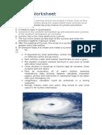 Cyclone Worksheet