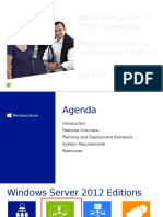 Windows Server 2012 Essentials - Module 1 - Overview and Planning