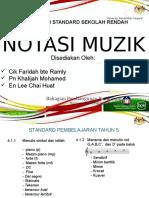 Notasi Muzik. Kursus Ju Muzik Tahun 5