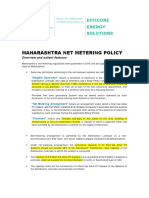Maharashtra Net Metering Policy Synopsis - Efficore Energy