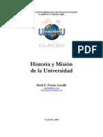 Porras, Raúl. Historia y misión de la universidad