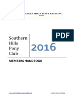 southern hills pony club handbook 2016