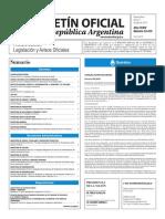Boletín Oficial de la República Argentina, Número 33.415. 11 de julio de 2016