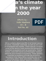 Africa's Climate From the Year 2000
