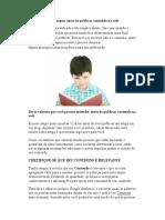 12 Dicas Que Deve Seguir Antes de Publicar Conteúdo Na Web