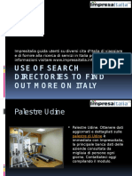 Use of Search Directories to Find Out More on Italy