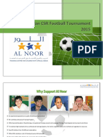 Al Noor Ramadan CSR Football Tournament 2015 - Sponsorship Proposal