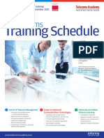 Training Schedule Aug Dec 2015