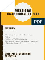 Vocational Transformation Plan