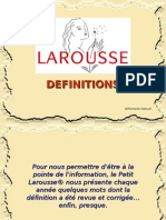 Definitions Larousse 2009