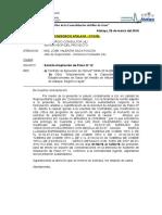 Carta a Supervisión Ampliación de Plazo N° 12 lluvia