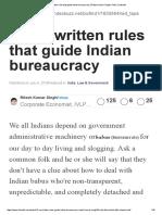 12 un-written rules that guide Indian bureaucracy _ Ritesh Kumar Singh _ Pulse _ LinkedIn.pdf