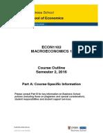 ECON1102 Macroeconomics 1 Part a S12016