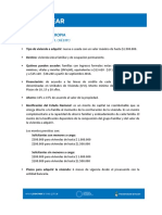 Características PROCREAR II